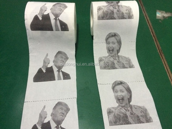 Custom Hillary Printed Toilet Paper Roll