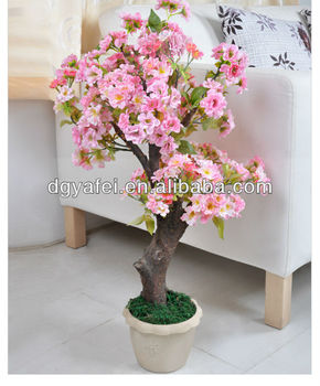 artificial peach flower trees landscaping/artificial peach blossom Artificial Indoor Flowers