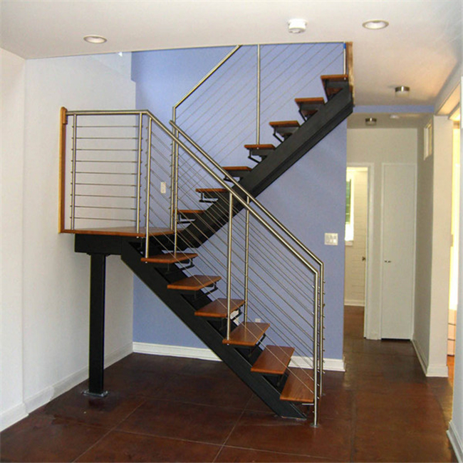 Small Stainless Steel Staircase With Wire Rope Rails - Buy Stainless ...