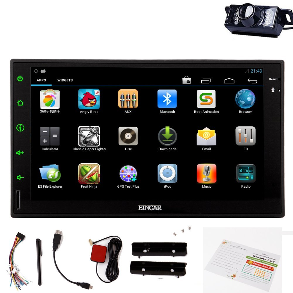 HD rear Mp3 Mp4 Camera!Eincar Car Car Dvd Player GPS Navigation Player Car Stereo 7 inch Capacitive Touchscreen Car Stereo CD DVD built-in wifi dongle Car Dvd Player support Bluetooth/SD/USB/Ipo