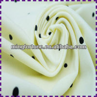 Different types of nylon flower printed brushed fabric for shoes/slippers/home textile