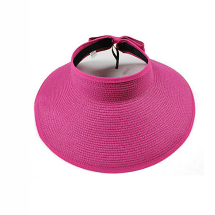 Get Quotations · Fashion Summer Sun Hats Women s Foldable Large Brimmed Beach  Hats UV Visor Straw Outdoor Travel Ladies de0dfe5d5432