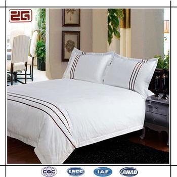 Luxury 400 Thread Count Sa Fabric Custom Logo Hotel Bed Linen Sheet