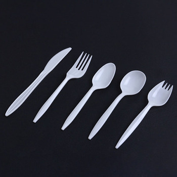 Table Setting Disposable Plastic Flatware Fork Spoon Knife