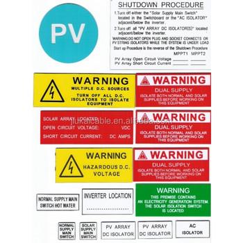 Australia Standard Abs Warning Label With 3m Sticker Buy