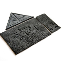 China Supplier Branded Cheap Custom Black Leather Patches
