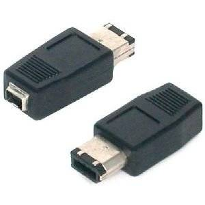 """Startech.Com Ieee-1394 Firewire Adapter 4 Pin - 6 Pin F/M - 1 X Female Firewire - 1 X Male Firewire - Black """"Product Category: Hardware Connectivity/Connector Adapters"""""""