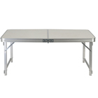 high quality Outdoor white adjustable portable picnic camping folding aluminum table