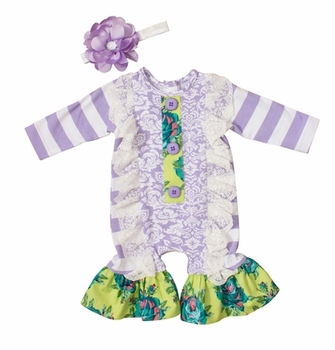 520989677478 Wholesale Purple Infant Baby Girls Lace Long Sleeve Fall Ruffle ...