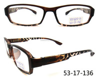PC plastic clear lens factory custom newest brown color reading glasses optic frame in Wenzhou China