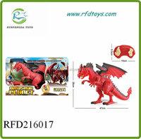 Remote control walking rc dinosaur plastic toy