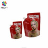 Flexible plastic stand up liquid spout pouch bags for 30ml 50ml 100ml hair conditioner