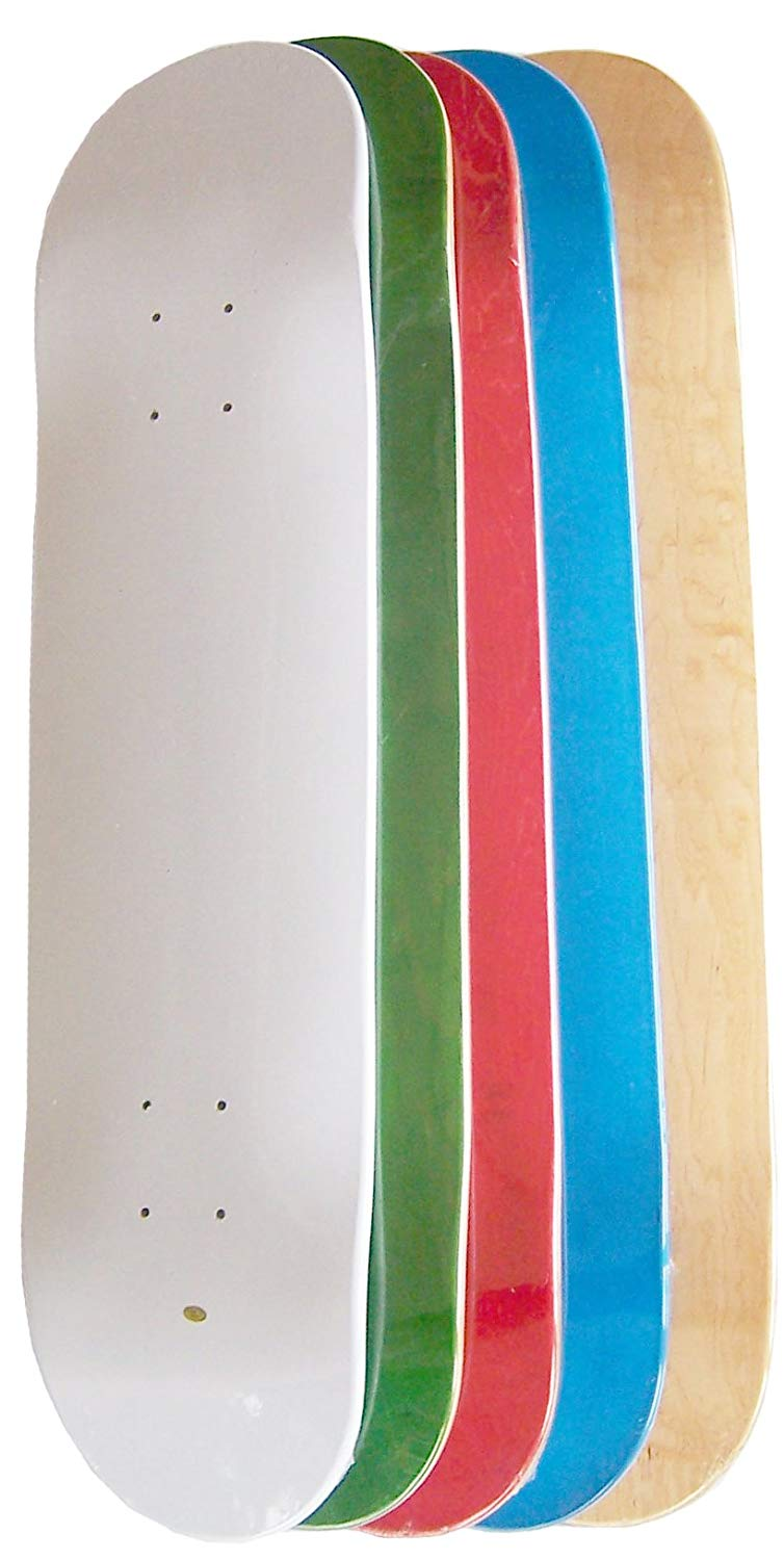 Moose Set of 5 Blank Skateboard Decks (Assorted Colors)