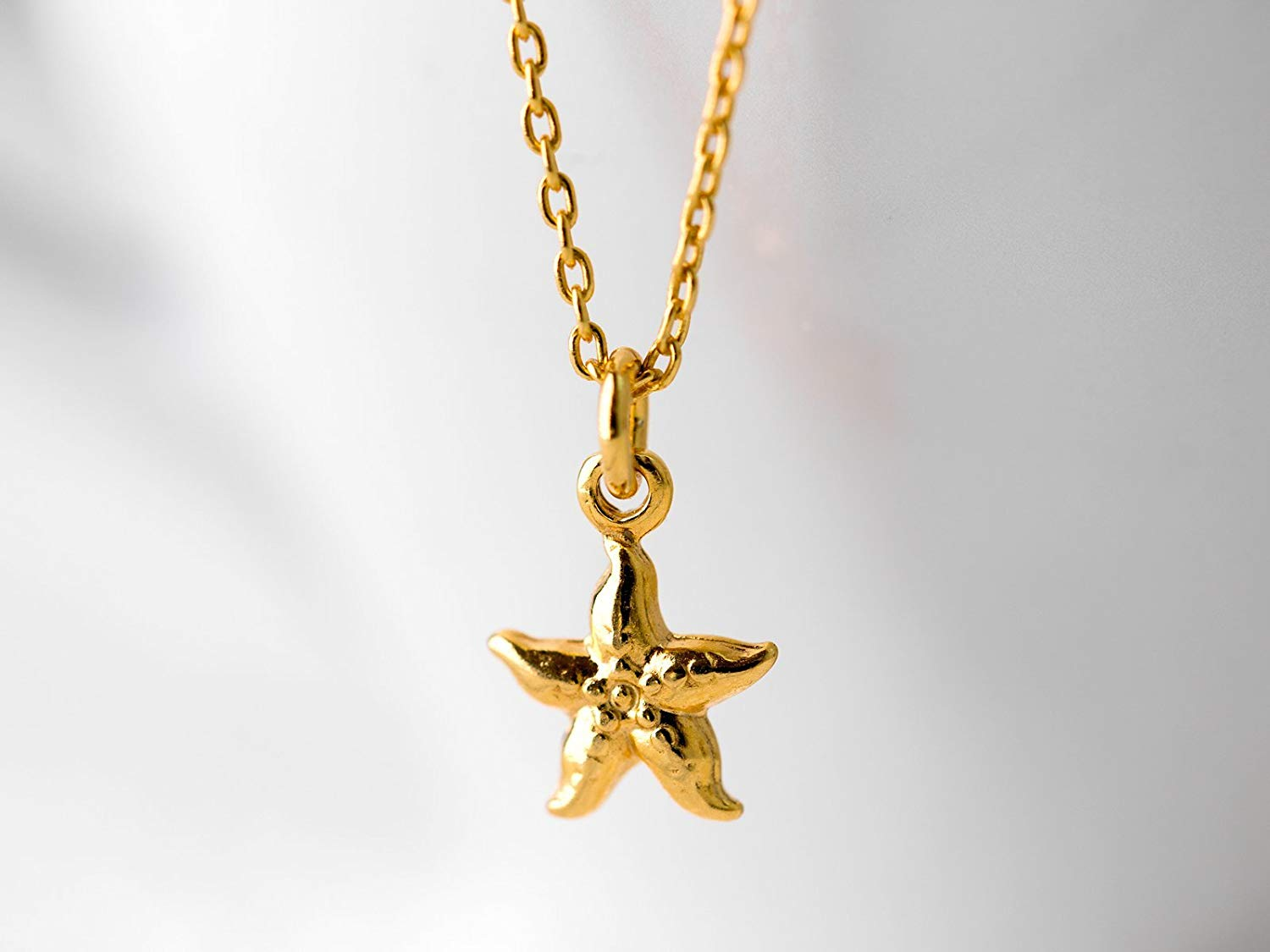 Sterling Silver Girls .8mm Box Chain 3D Sand Pail Starfish Decoration On Sand Pendant Necklace