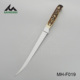 New Arrival Imitated cow bone handle fishing knife with PU sheath