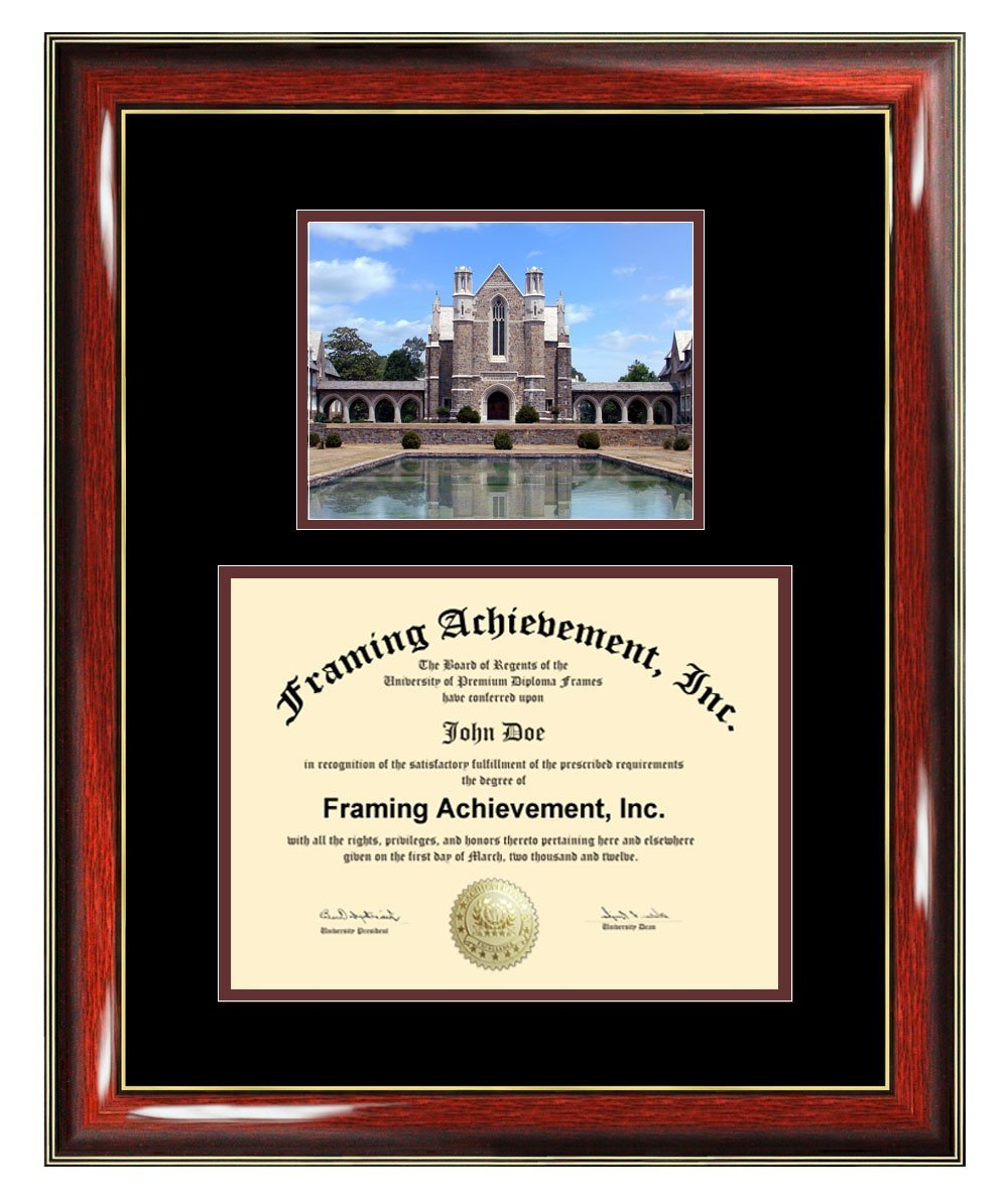 Berry College Diploma Frame - Berry College Graduation Degree Frame - Matted Campus College Photo Graduation Certificate Plaque University Framing Graduate Gift Collegiate