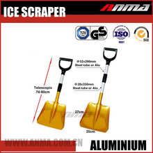 High quality steel or aluminum telescopic handle snow shovel for car or home garden use