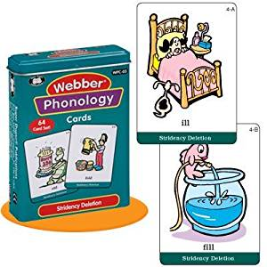 "Webber Illustrated Phonology ""Stridency Deletion"" Minimal Pair Card Deck - Super Duper Educational Learning Toy for Kids"