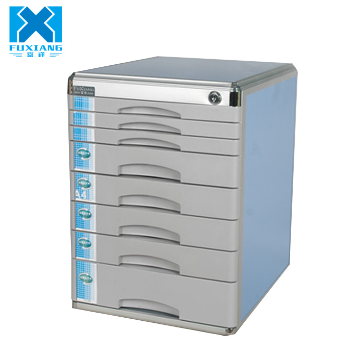 Cheap Bule Sliding Metal 8 Drawers File Storage Cabinet for Office Stationery