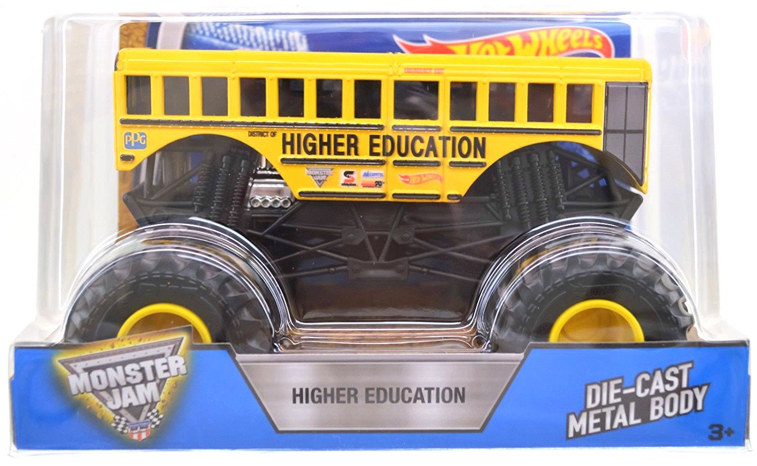 2016 Hot Wheels Monster Jam: HIGHER EDUCATION 1:24 Scale - 1st Edition NEW School Bus Big Truck