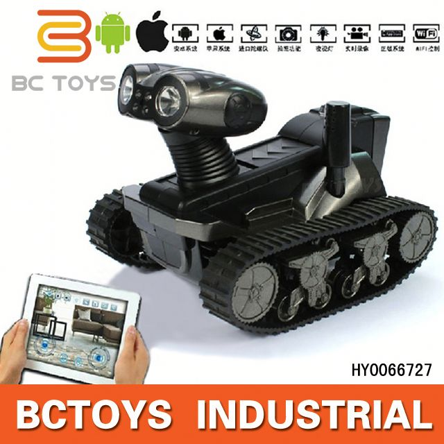 HOT! Iphone Android control spy rc tank with wifi camera electric walking dog toy for kids HY0066727