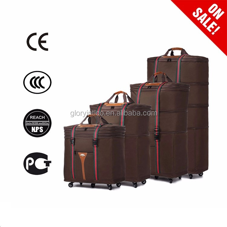 2016 Multi -use big travel bags with 5 luggage wheels parts