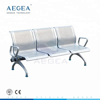 With three seats stainless steel clinic used hospital waiting chair