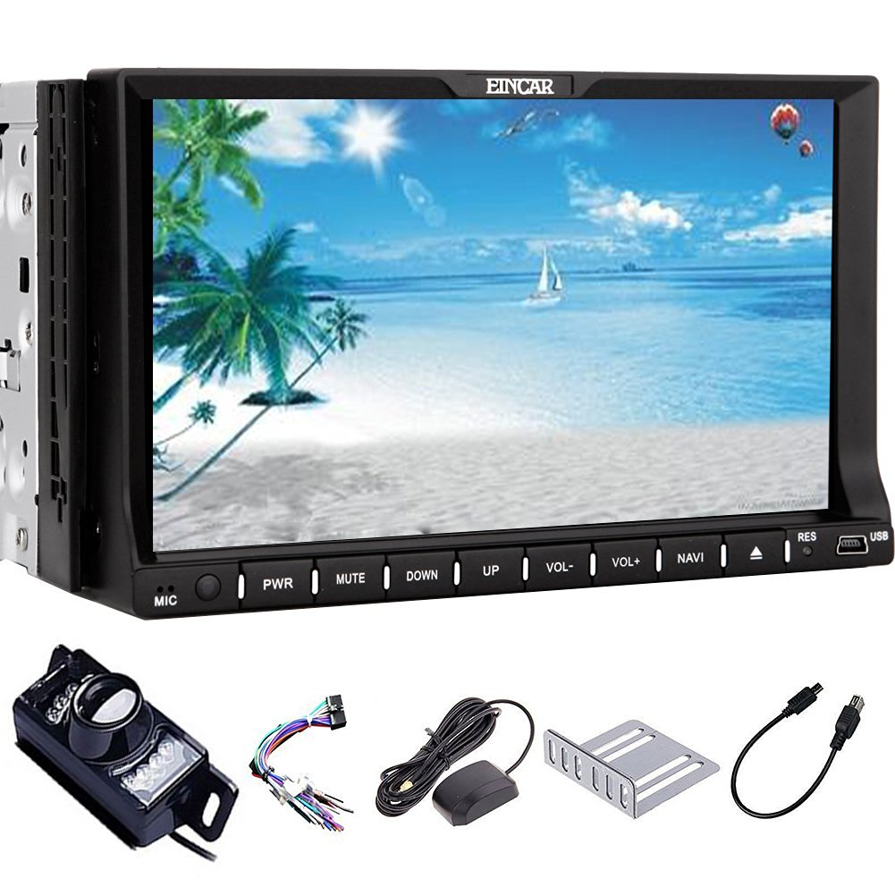 Christmas Sale!!! BT Free backup Camera support BT 2015 updated Car DVD VCD Player Automotive NEW UI design Win 8 System avi Double 2 Din 7 inch Auto Radio Car Stereo Capacitive Multi touch Sc