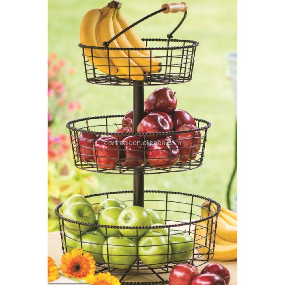 Kitchen Accessories 3 Tier Wire Fruit Basket - Buy Fruit Basket,Kitchen  Accessories,Basket Product on Alibaba.com