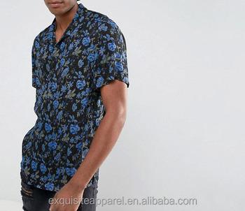 bb53ff1e69f mens button up 100 % cotton floral tropical print customized wholesale  button down fashion shirts