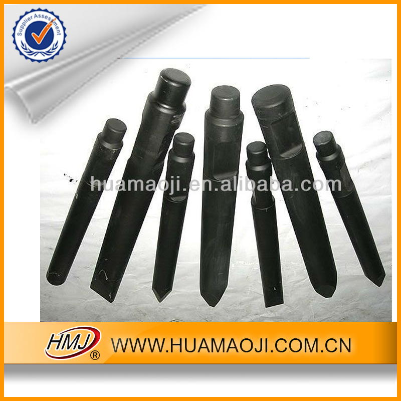 Hydraulic Breaker Hammer Spare Parts Flat/Blunt/Cone/Wedge/Heat Treatment Chisel