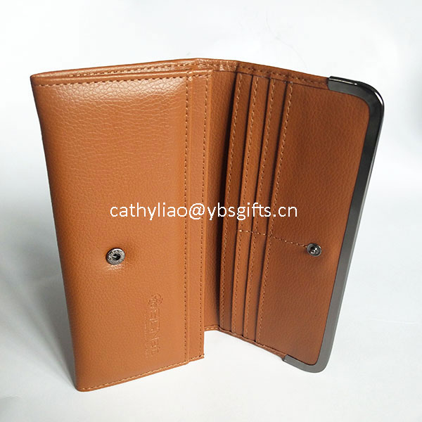 Custom Logo Luxury leather women billfold wallet