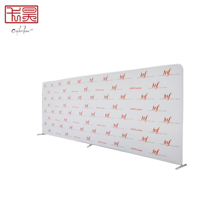custom printed trade <strong>show</strong> booth backdrop fabric tension display