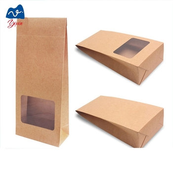 Kraft paper bag manufactures with clear windowbag