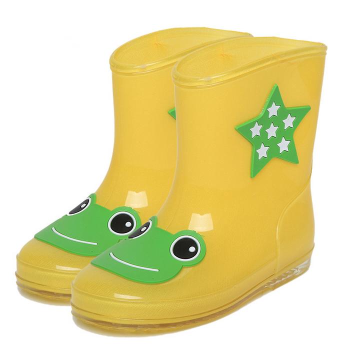 2016 New Fashion Children Rain Boots Girls Boys Rainboots Round Toe Unisex Kids Rain Boots PU