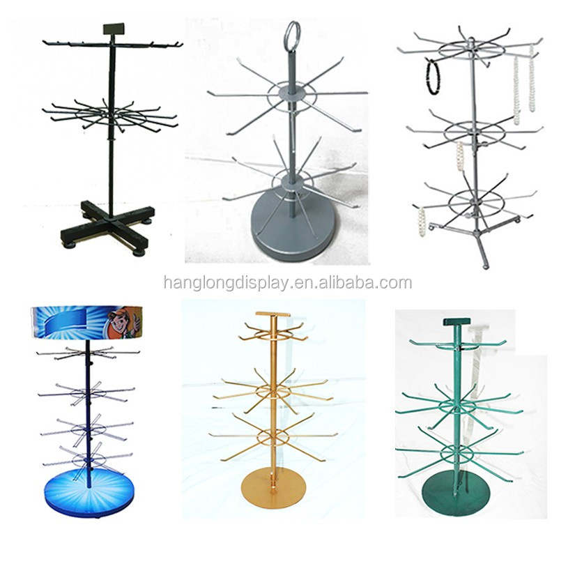 round retail display table with 4 legs