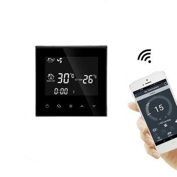 LCD Touch Screen Modbus Wifi Thermostat For Fan Coil