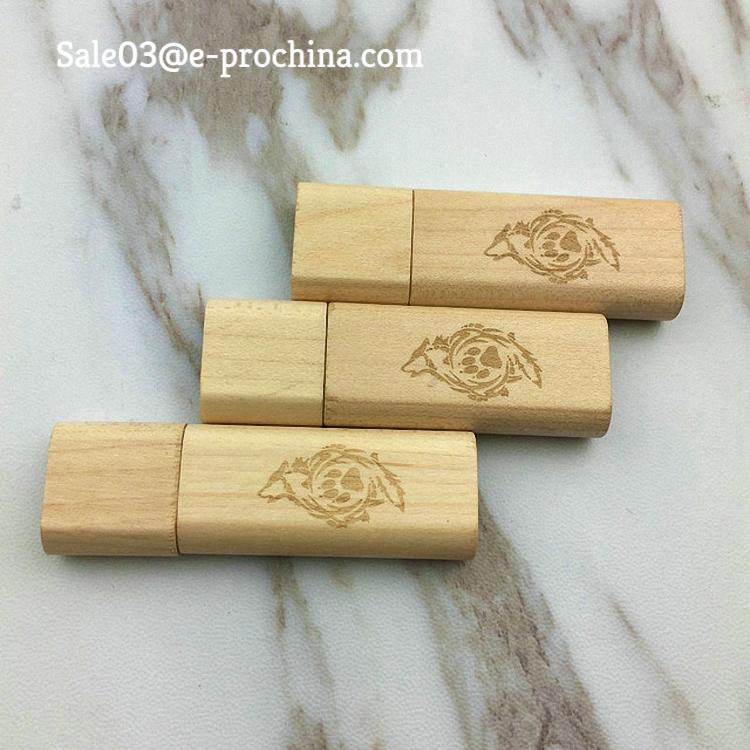 Ekinge Stock Engrave Logo printed 1GB Wooden Stick wood USB Flash Drive