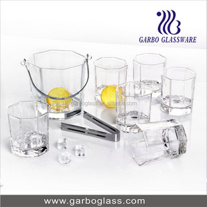 China Wholesale 7PCS/SET Glass Ice Bucket, Beer/ Wine Ice Pail Set