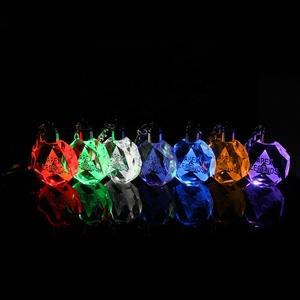 2019 New arrival Apex legends LED Light Crystal Keychain Seven Colors change