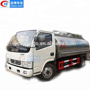 Factory Directly Dongfeng 5000 liter Steel Milk Transport Tanker Trailer Truck