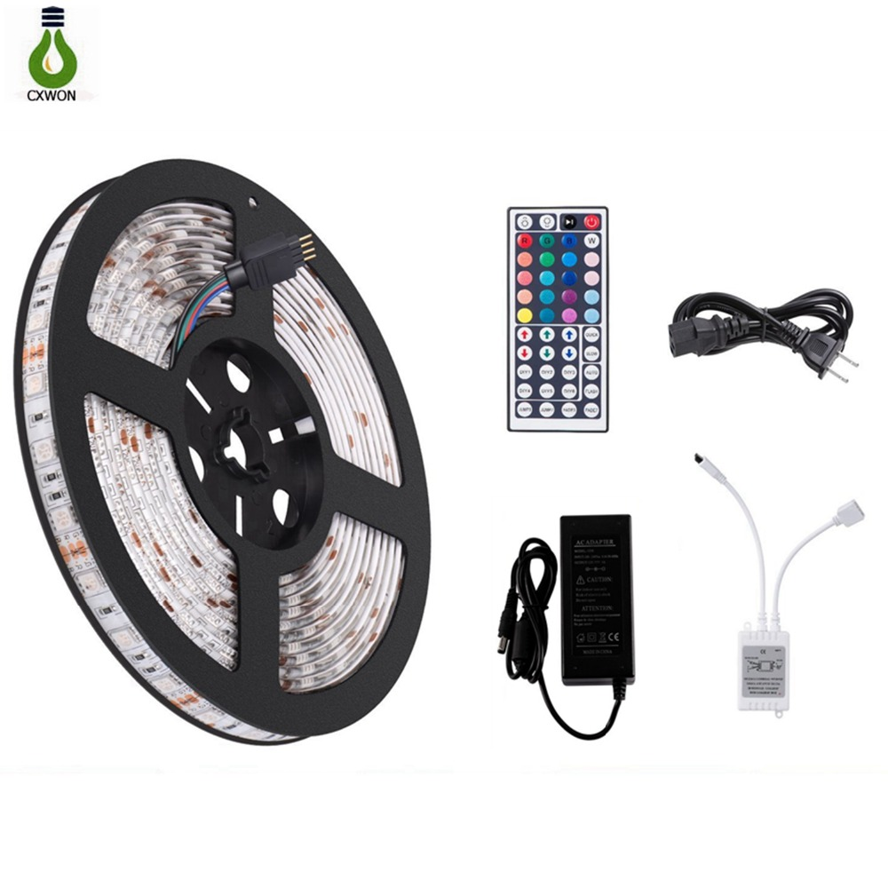 Dc 12v Led Strip 5050 Not Waterproof Rgb Led Light Flexible 10m 5m Light Strip With Remote Controller For Tv Background Lighting To Assure Years Of Trouble-Free Service Smart Electronics