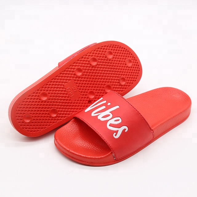Red Custom Printed Logo Ladies Sliders <strong>Slippers</strong>