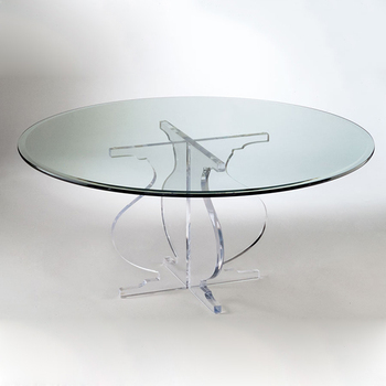 Small Clear Plastic Coffee Tables Beautiful Round Gl Console Table Product On