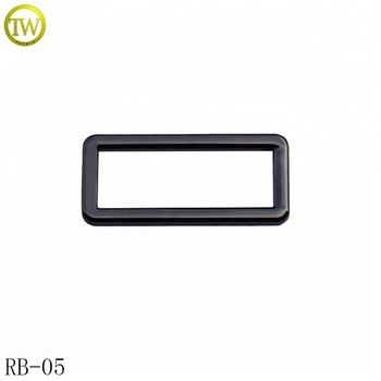 Custom metal strap square buckle metal ring and bag flat buckle