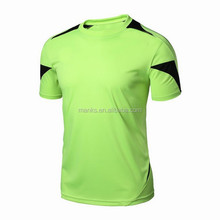 Custom Made Mens Spandex do Poliéster Dry Fit Contrastantes Correndo Sports T Camisa