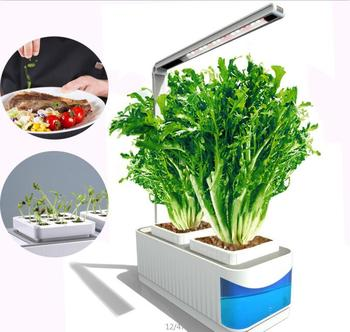 Wholesale Led Plant Grow Kit Indoor Herb Garden Plants Light Hydroponics Flower Pots with Ultraviolet Ray Led for Home Office