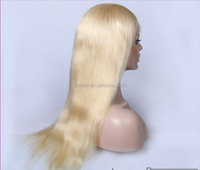100% Remy Indian Remy Hair Human Hair Lace Wigs Unprocessed wholesale cheap blonde human hair full lace blonde #613