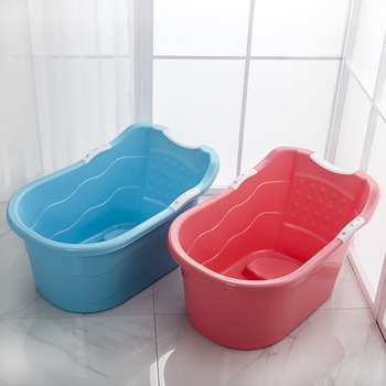 Deep hot sale pp plastic baby bath tub portable baby freestanding bathtub