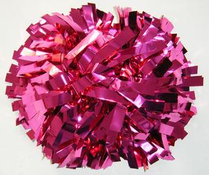 Cheerleading metallic hot pink pom poms